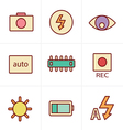 Icons Style Photography icons vector image vector image
