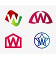 Letter w logo icon set vector image vector image