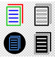 list page eps icon with contour version vector image vector image