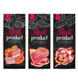 meat products delicatessen banners sketch vector image vector image