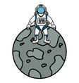 mercury planet isolated icon vector image