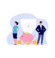 money insurance bank managers man woman and vector image vector image