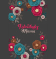 mother s day greeting card confetti and floral vector image