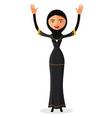 muslim woman waving her hand vector image vector image