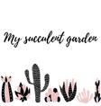 my succulent garden5 vector image vector image
