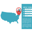 new york map infographic vector image