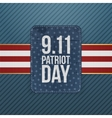 Patriot Day festive paper Emblem vector image