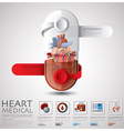 Pill Capsule Heart Health And Medical Infographic vector image