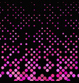 pink geometric dot pattern background vector image vector image