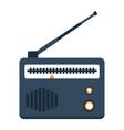 radio flat icon fm and communication vector image