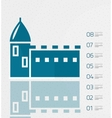 Real estate infographics template in retro style vector image