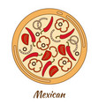 round hot delicious tasty pizza vector image vector image