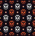 seamless pattern for dia de los muertos - mexican vector image vector image