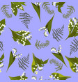 seamless pattern with lilies valley vector image vector image