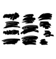 set of black brush stroke and texture grunge vector image vector image