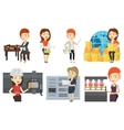 set of industrial workers vector image vector image