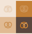 set of pretzel icon vector image vector image