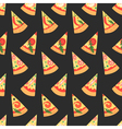 set pizza slices with different toppings vector image