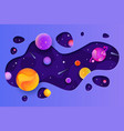 space galaxy elements in website header or banner vector image
