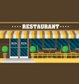 the facade of the cafe in flat vector image