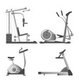 training apparatuses from gym isolated monochrome vector image vector image