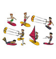 water sports cartoons vector image vector image