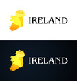 Golden Logo with Ireland Contour vector image
