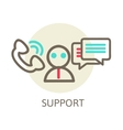 Headset Contact Live Help Support icon vector image