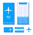 airplane corporate identity vector image