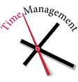 Efficient time management clock work vector image