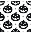 pattern with black pumkins vector image
