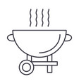 barbecue grill line icon sign vector image