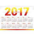 2017 year simple office calendar vector image