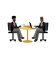 african businessmen coffee meeting in office vector image