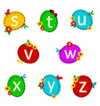alphabet oval from S to Z vector image vector image