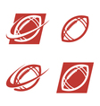 American Football Logo Icons vector image vector image