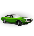 american muscle car green vector image vector image