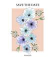 anemones blue violet watercolor print trendy vector image vector image