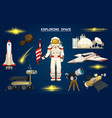 astronaut in space spaceman explores galaxy vector image vector image