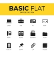 Basic set of Office icons vector image vector image