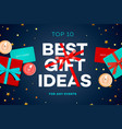 best gift ideas discount sale poster original vector image vector image