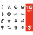 black eco icons set on white background vector image vector image