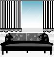 Black sofa vector image vector image