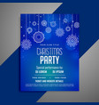 blue christmas flyer template in decorative design vector image
