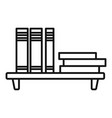 book shelf icon outline style vector image vector image