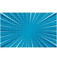 bright blue striped retro comic background vector image