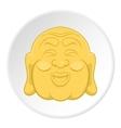 Buddha icon flat style vector image