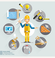 Building consultants contractors vector image