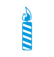 candle flame decoration celebration light icon vector image vector image