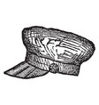 cap a covering for the head vintage engraving vector image vector image